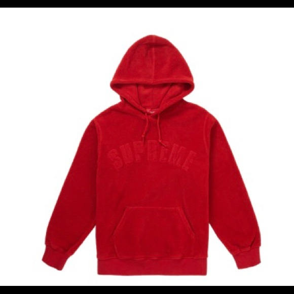 b8905103 Supreme Shirts   Polartec Fleece Hooded Sweatshirt Red Fw18   Poshmark